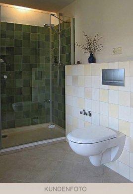 vb_dusche_grüntöne Verlegebeispiel Dusche in Grüntönen