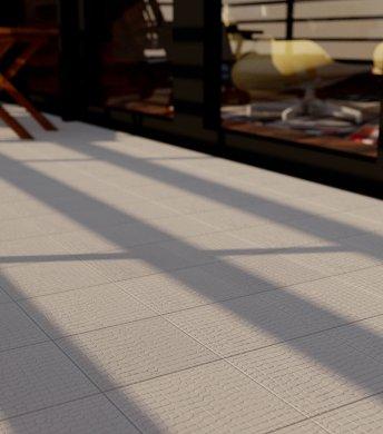 Verlegemuster Bodenfliese mit Reliefdekor SF 11.3 hellgraue Bodenfliese mit Reliefdekor-SF11.3