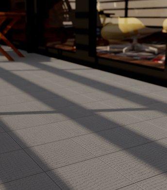 Verlegemuster Bodenfliese mit Reliefdekor SF 11.5 dunkelgraue-glatte-Bodenfliese-SF11.5