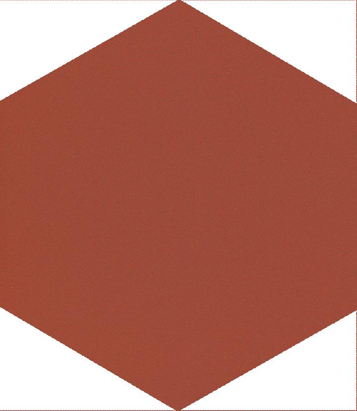 Carreau hexagonal SF 17.25 S, intensivrot