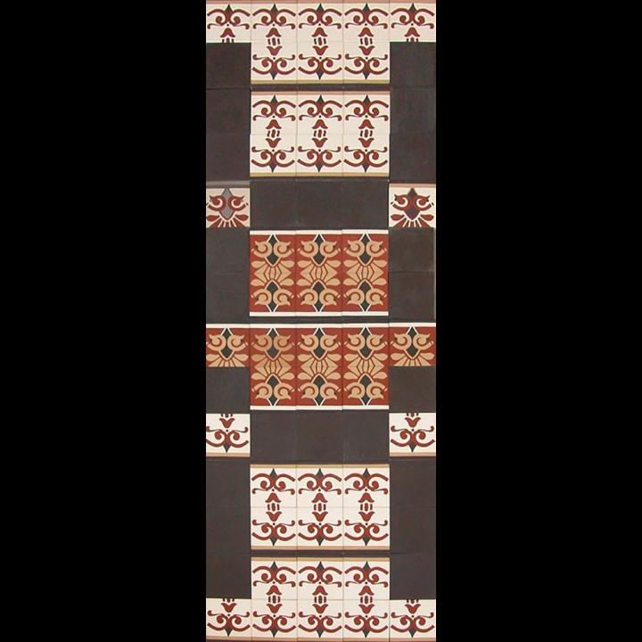 Verlegemuster für Bodenfliesen  PMS 118 (2 m²)