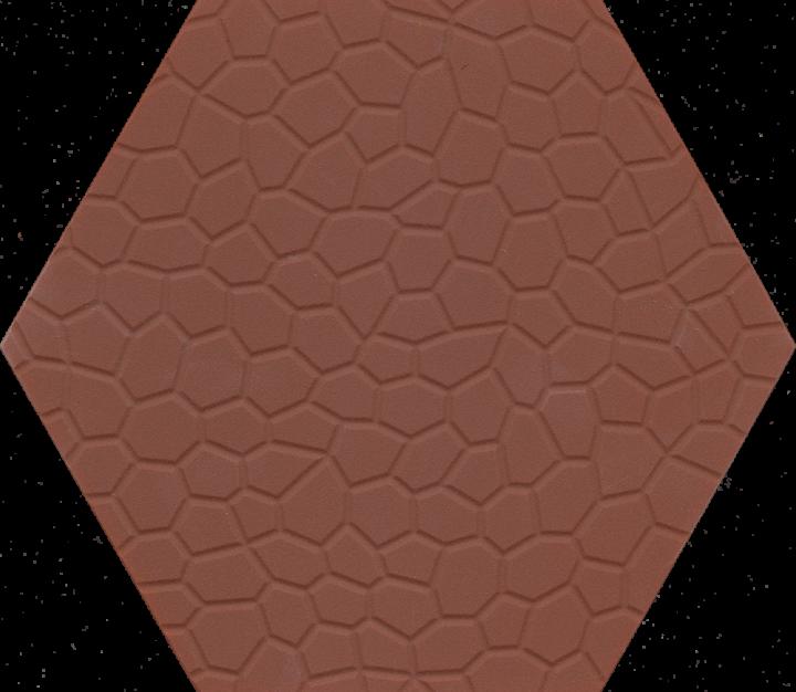 Bodenfliesen, Restposten Sechseck mit Mosaikrelief mit rotem Farbspiel BFE SF 17a.10 (2,77m²)