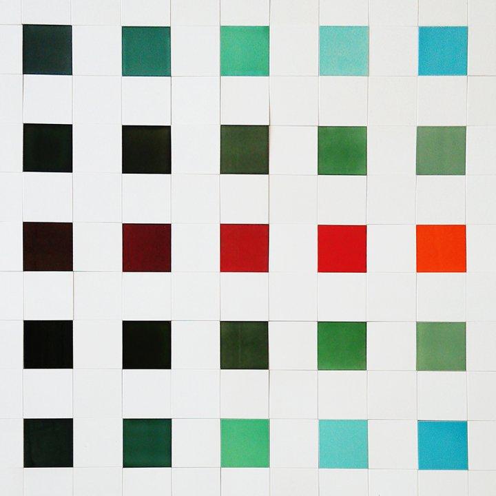 Wandfliesenspiegel, Patch-Art gestaltet von Sabine Heller WSH 176 (3,7m²)