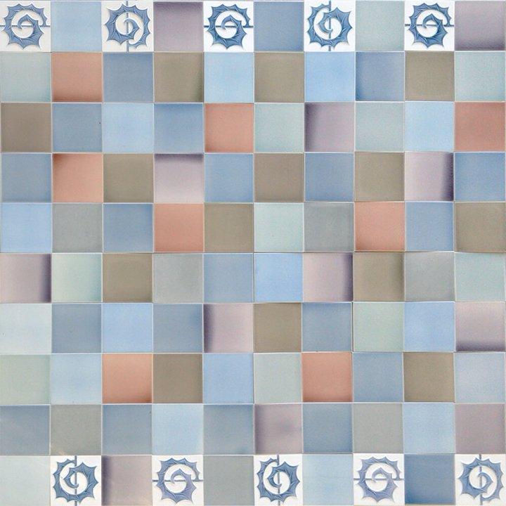Wandfliesenspiegel, Patch-Art gestaltet von Sabine Heller WSH 177 (3,3m²)