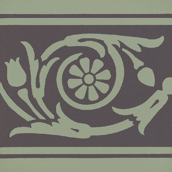 Steinzeugfliese SF 208 J, Ornament