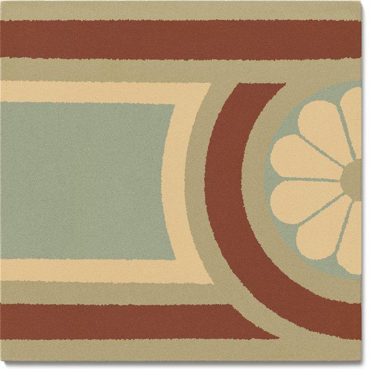 Carreau en grès SF 504 J, Ornement