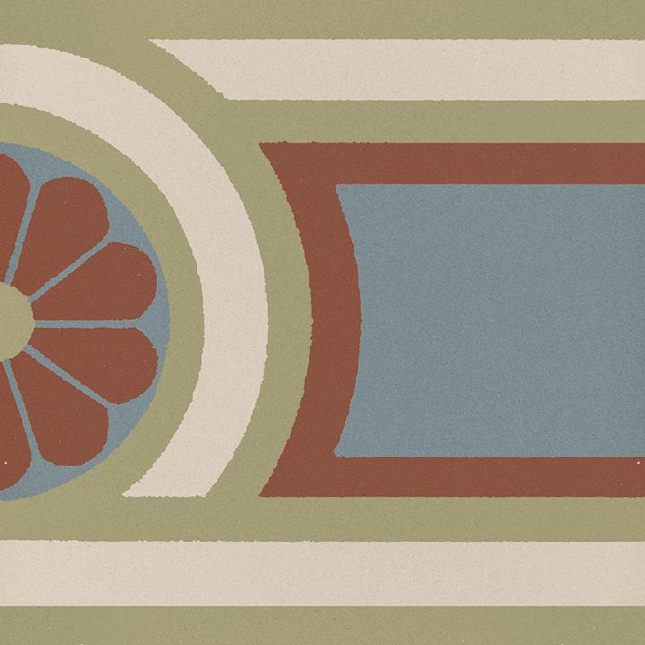 Steinzeugfliese SF 504 L, Ornament