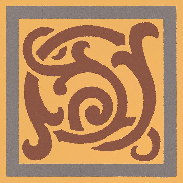 Steinzeugfliese SF 333 K e, Ornament
