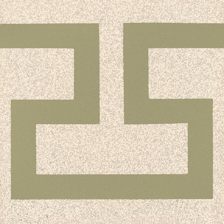 Carreau en grès SF 254 P, Ornement