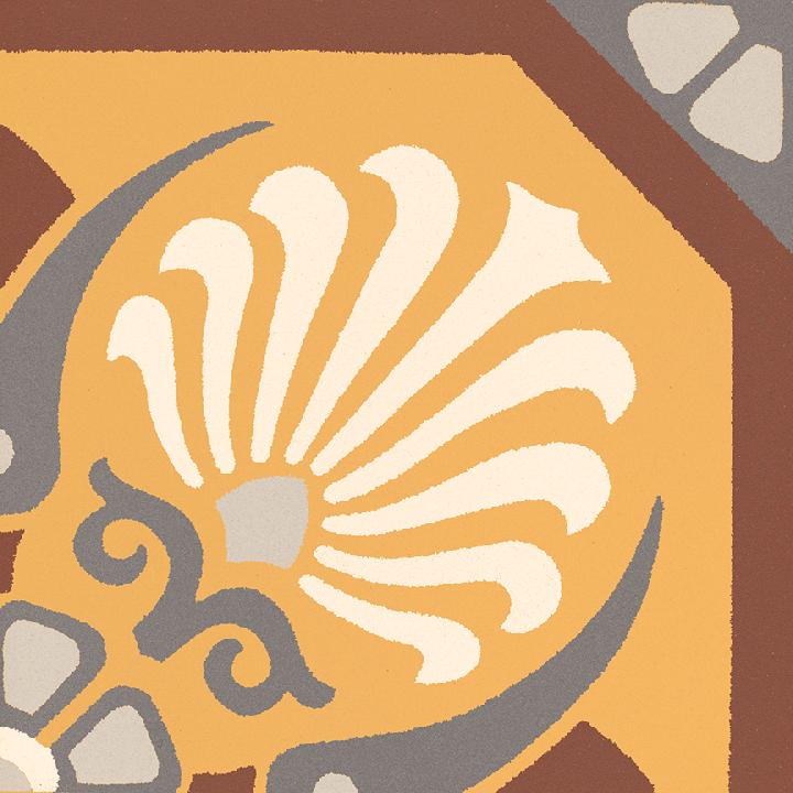 Steinzeugfliese SF 558 K, Ornament
