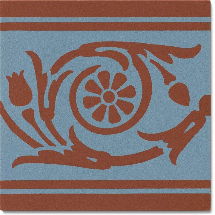 Steinzeugfliese SF 208 L, Ornament