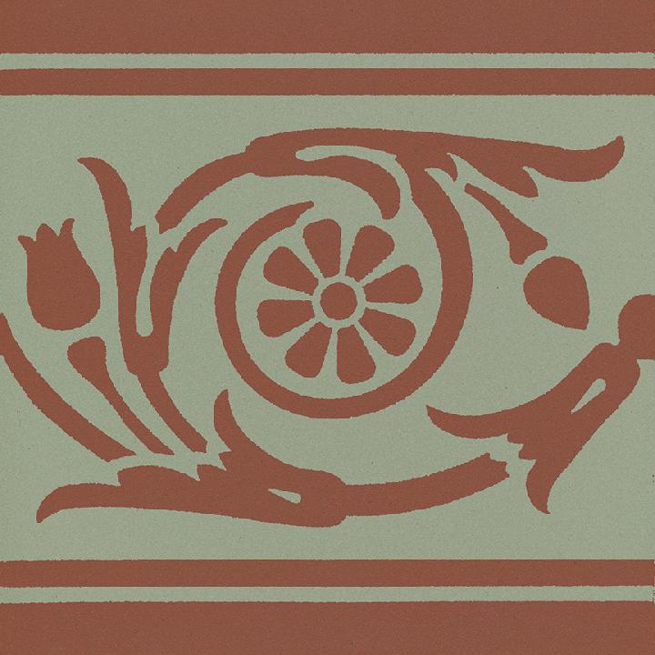 Steinzeugfliese SF 208 S, Ornament