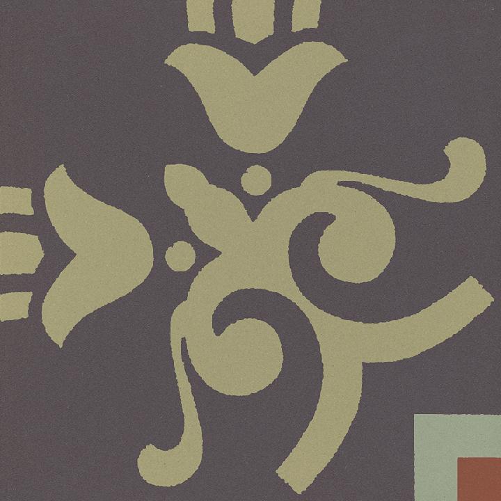 Steinzeugfliese SF 303 J e unten, Ornament