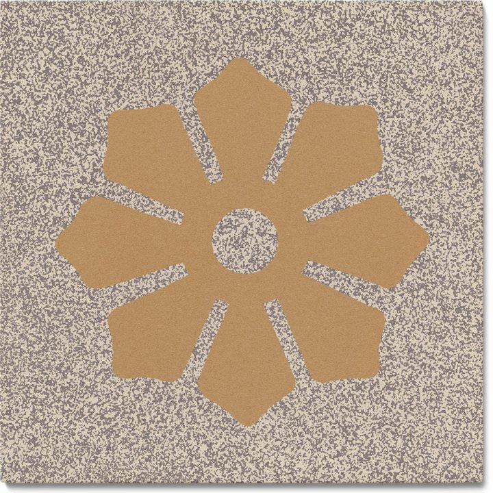 Steinzeugfliese SF 244 C, Ornament