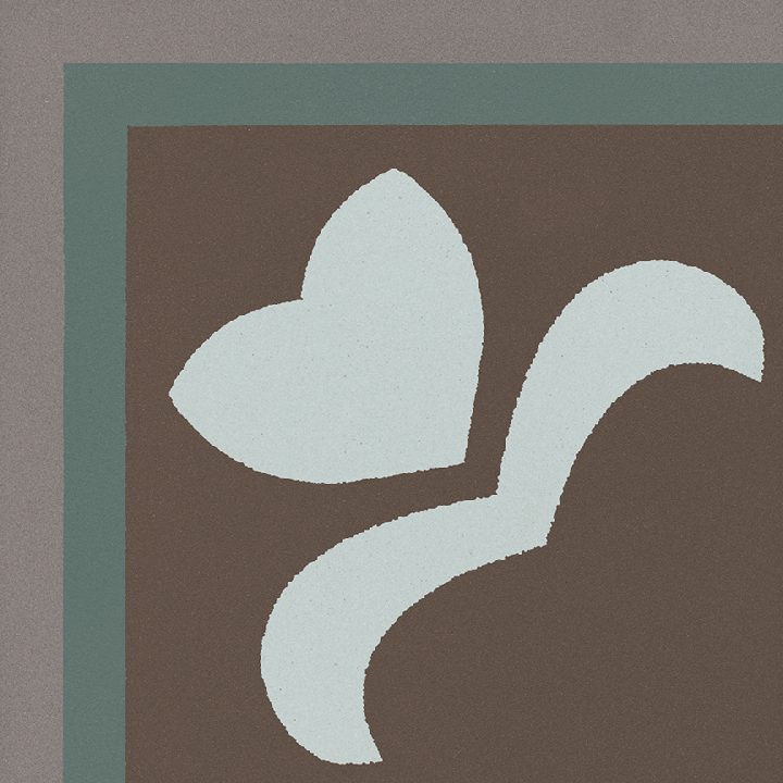 Steinzeugfliese SF 303 R e oben, Ornament