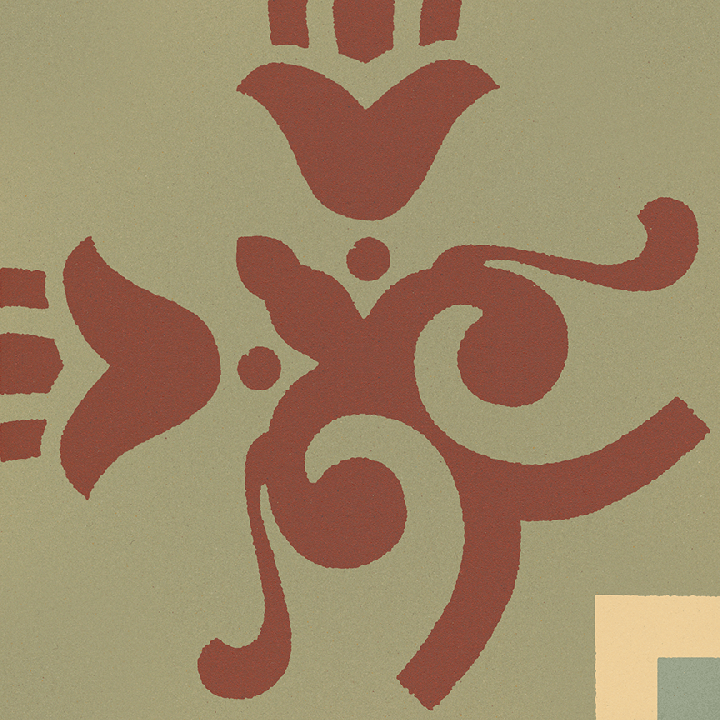 Carreau en grès SF 303 I e unten, Ornement