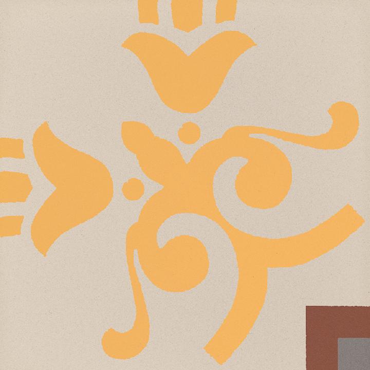 Steinzeugfliese SF 303 K e unten, Ornament