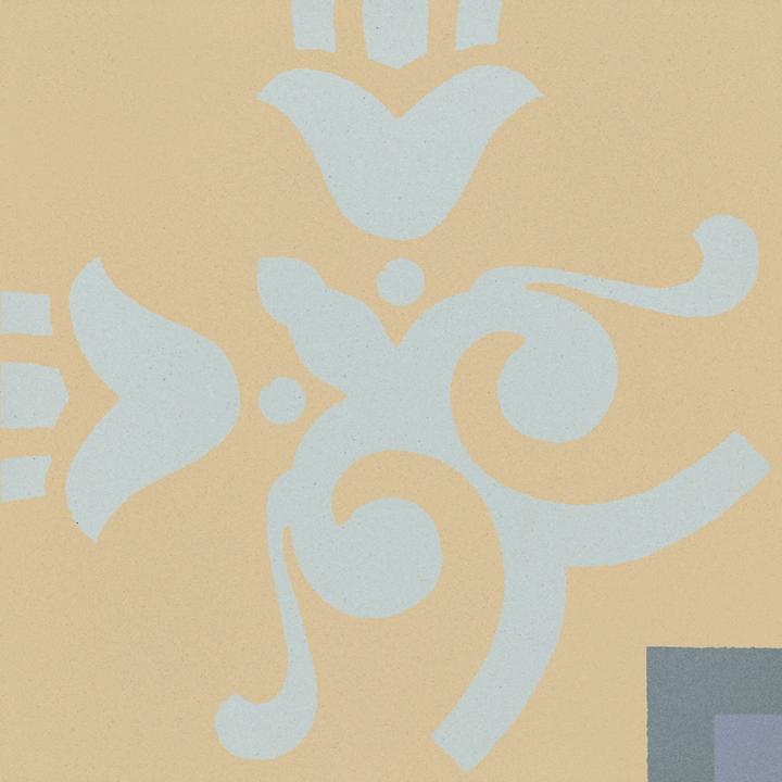 Steinzeugfliese SF 303 O e unten, Ornament