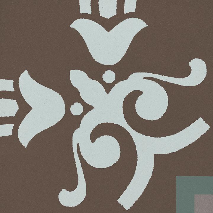 Steinzeugfliese SF 303 R e unten, Ornament