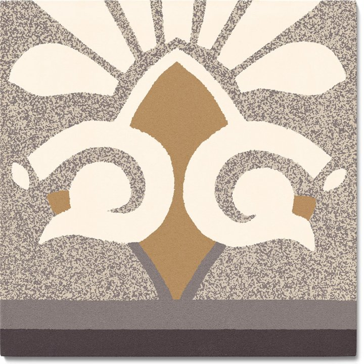 Steinzeugfliese SF 304 C unten, Ornament