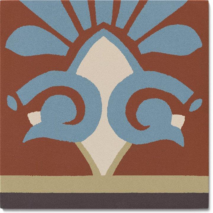 Stoneware tile SF 304 L unten, Historic Stoneware