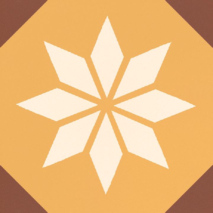 Steinzeugfliese SF 308 K, Ornament