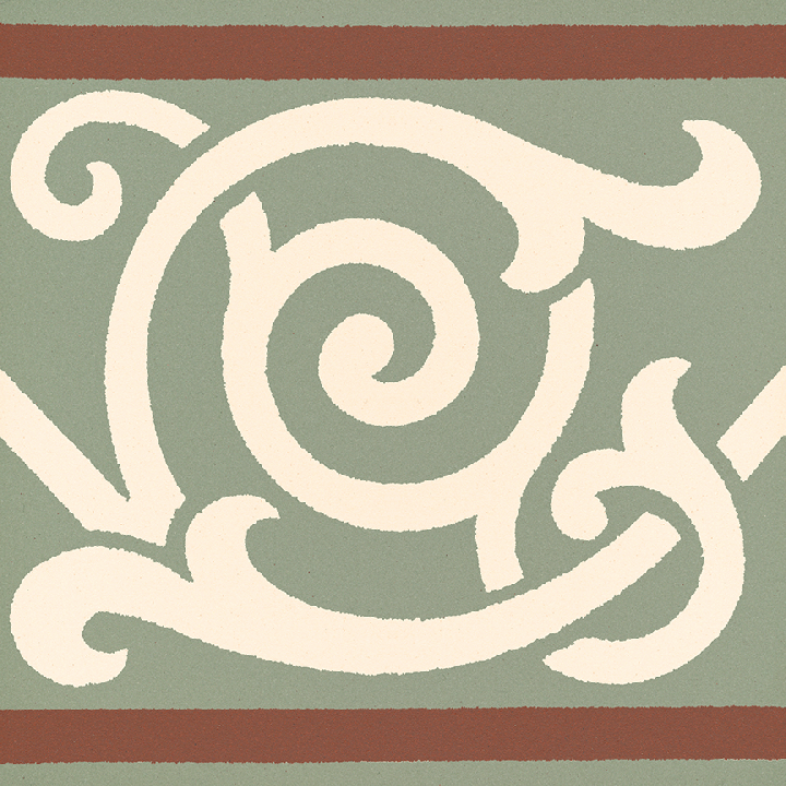 Steinzeugfliese SF 333 S, Ornament