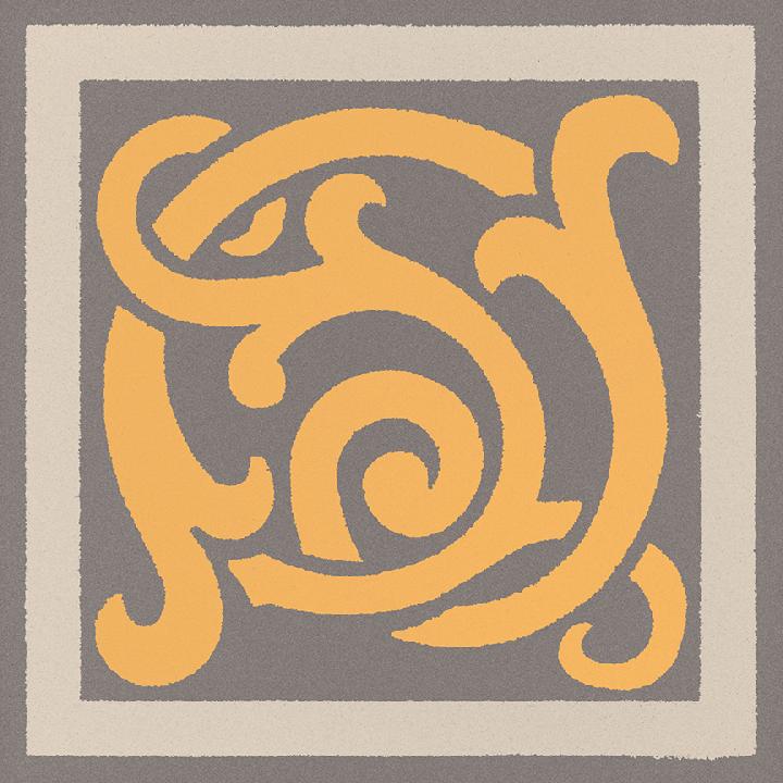 Steinzeugfliese SF 333 H e, Ornament