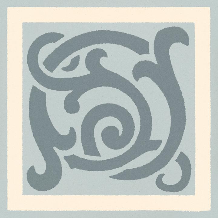 Steinzeugfliese SF 333 O e, Ornament