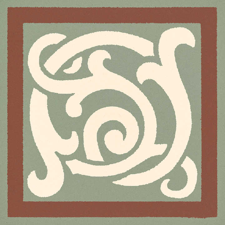 Steinzeugfliese SF 333 S e, Ornament