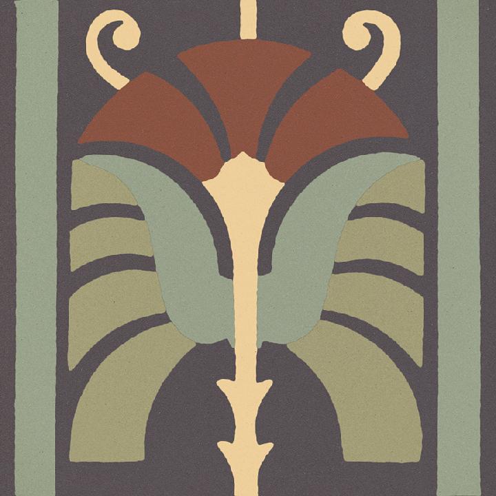 Steinzeugfliese SF 562 J, Ornament