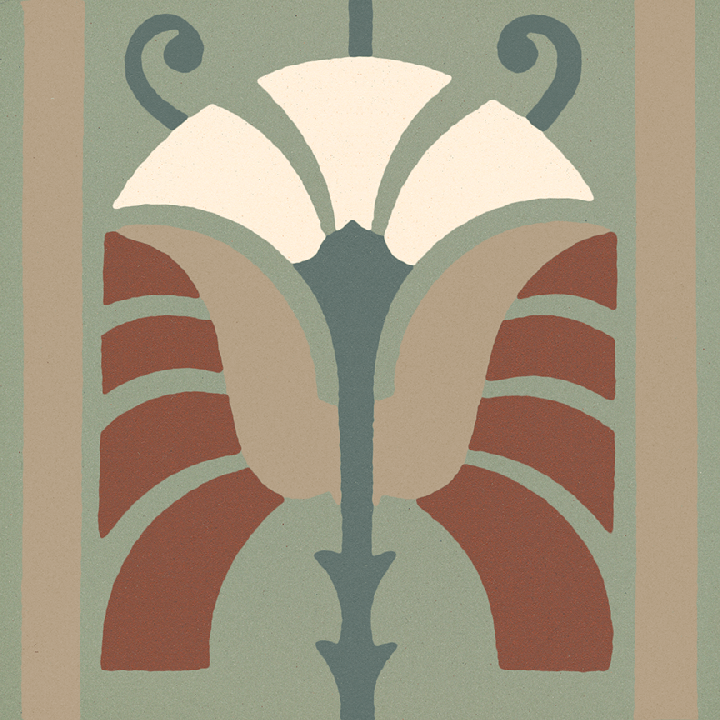 Steinzeugfliese SF 562 S, Ornament