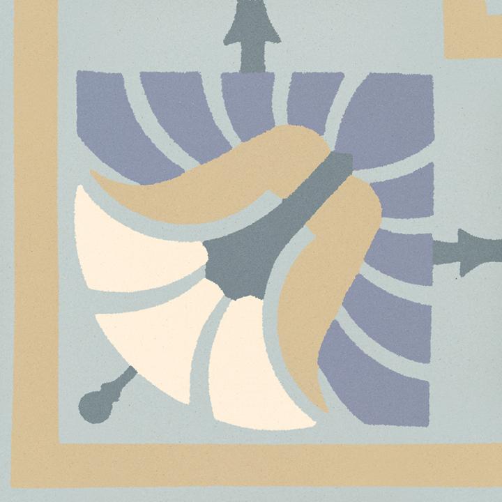 Steinzeugfliese SF 562 O e, Ornament