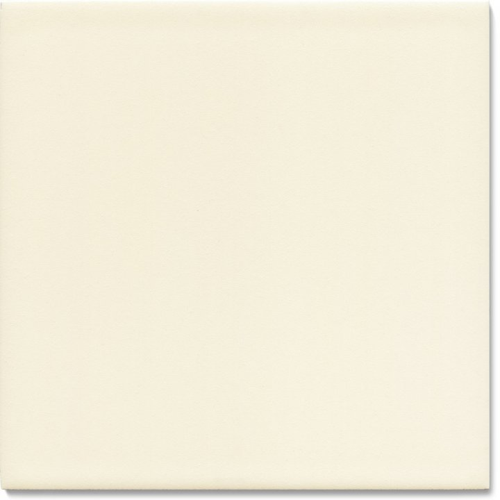 Plain glazed wall tile F 10.47, Cremeweiss deckend