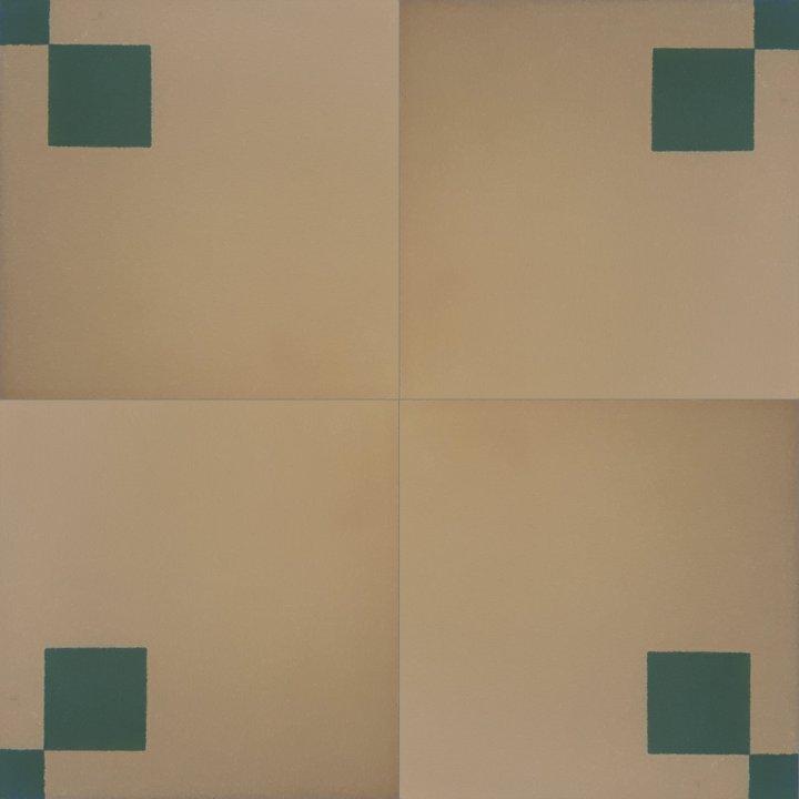 Bodenfliesen, Restposten zweifarbige Steinzeugfliesen beige/grün  BFE SFTG 8207a (8,15 m²)