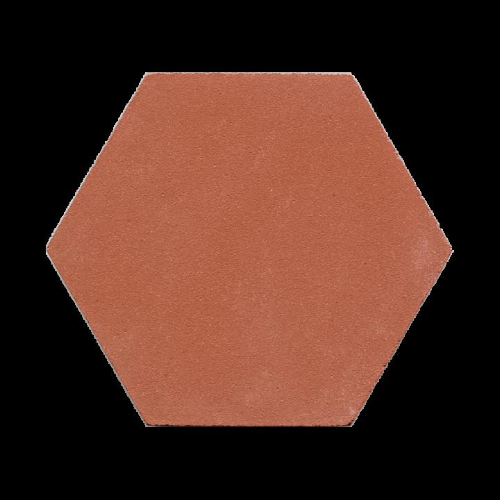 Sechseckfliesen in ziegelrot, für Wand und Boden  BFE SF 19.10 (9,7 m²)