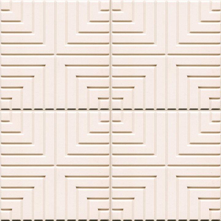 Outlet,  Bodenfliesen cremeweiß mit Refief  BFE SF 33.1   (1,55 m²)