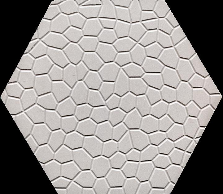 Bodenfliesen, Restposten Sechseck hellgrau mit Mosaikrelief  BFE SF 17a.4 (2,77m²)