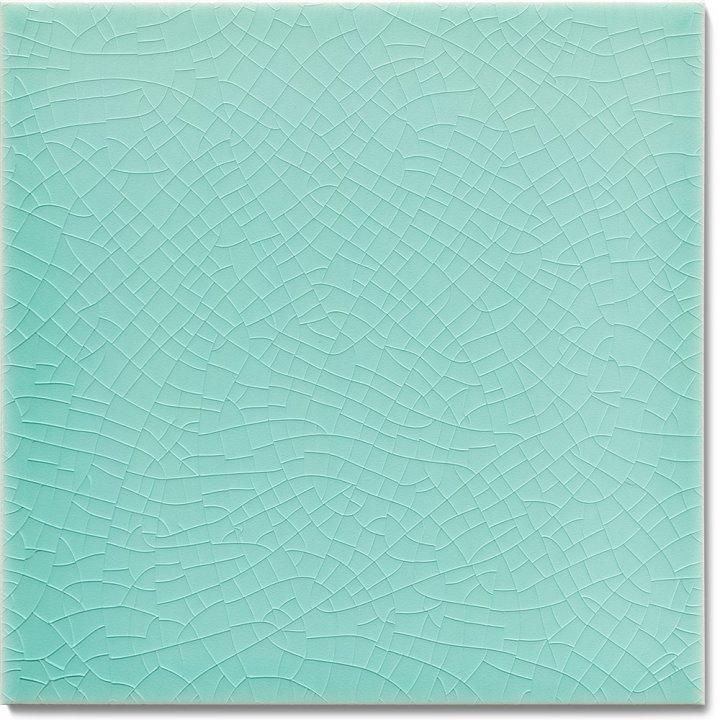 Einfarbig glasierte Wandfliese F 10.5, Türkis grünlich