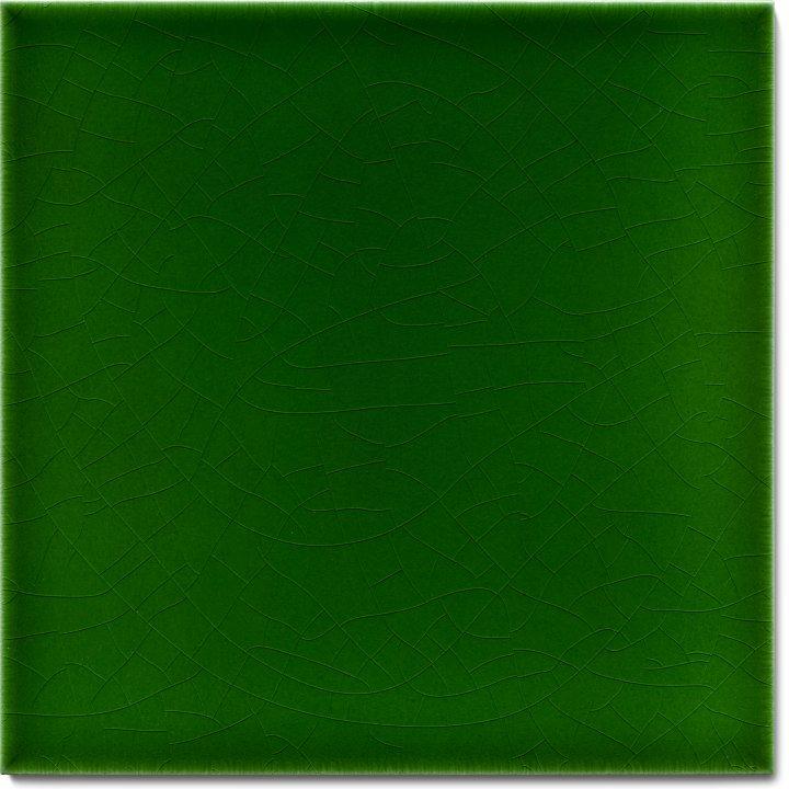 Einfarbig glasierte Wandfliese F 10.8, Dunkelgrün warm