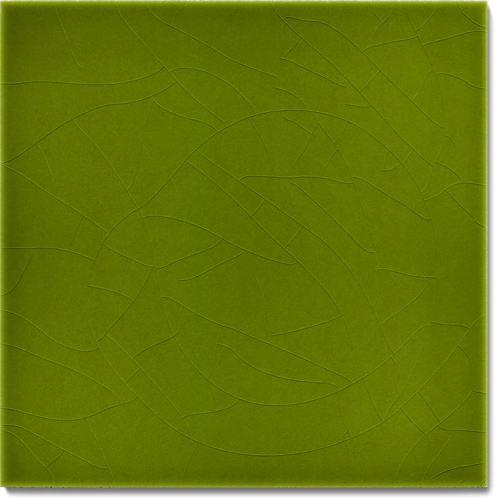Einfarbig glasierte Wandfliese F 10.9, Lindgrün