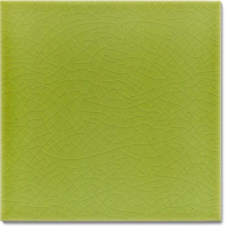 Plain glazed wall tile F 10.10, Lindgrün hell