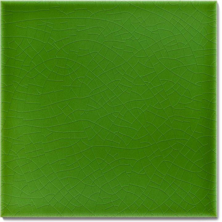 Plain glazed wall tile F 10.14, Laubgrün