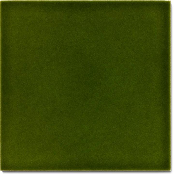 Plain glazed wall tile F 10.28, Grünflocke