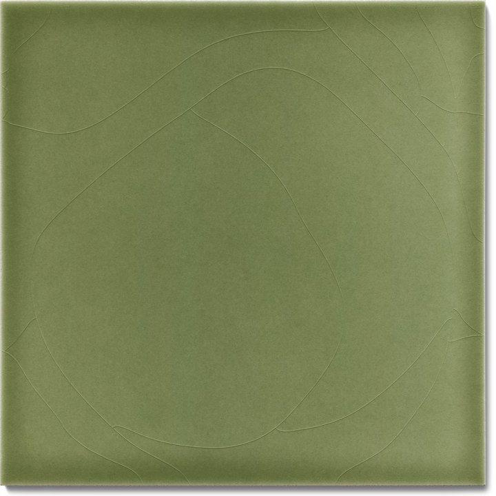 Plain glazed wall tile F 10.33, Blassgrün