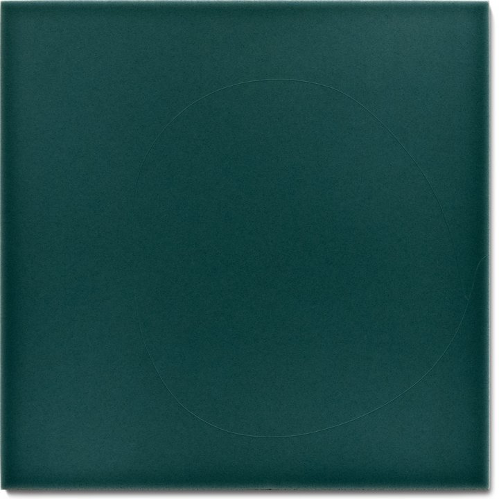 Einfarbig glasierte Wandfliese F 10.35, Blaugrün