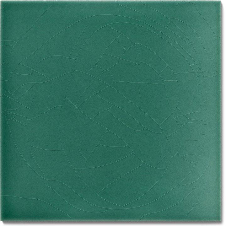 Einfarbig glasierte Wandfliese F 10.43, Schilfgrün