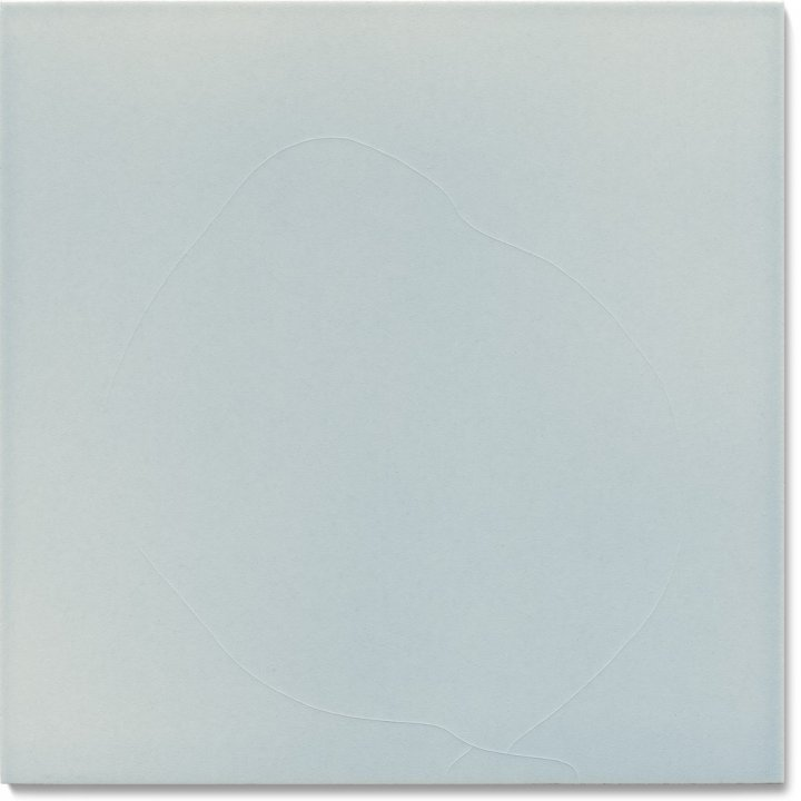 Plain glazed wall tile F 10.44, Lichtgrau