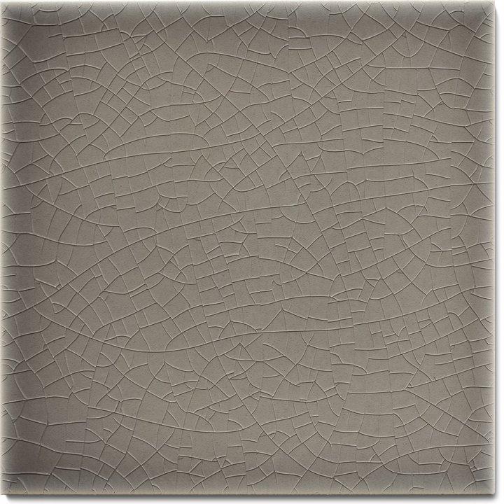 Plain glazed wall tile F 10.49, Mittelgrau grünlich