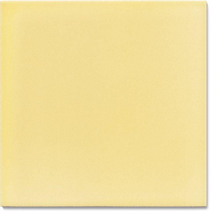 Einfarbig glasierte Wandfliese F 10.61, Pastell gelb
